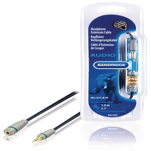 Headphone Extension Cable 1m - BAL3601